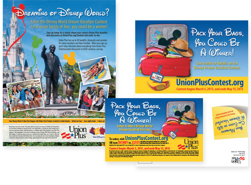 Disney Ad and Mailer