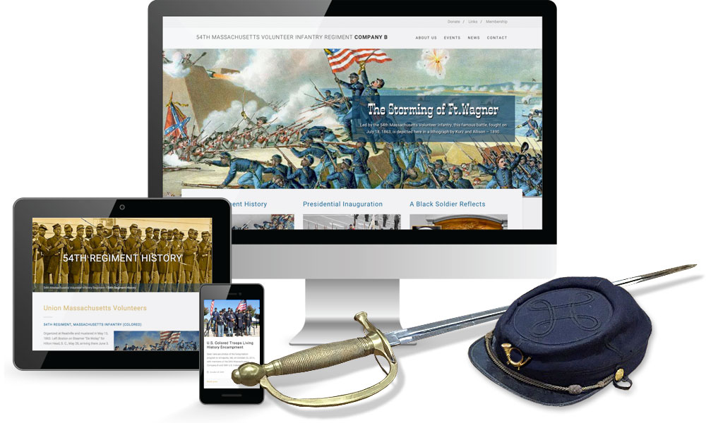 54th Mass. Volunteer Infantry Website