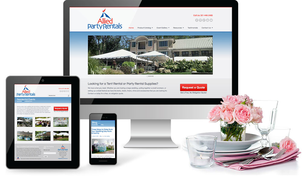 Allied Party Rentals Website