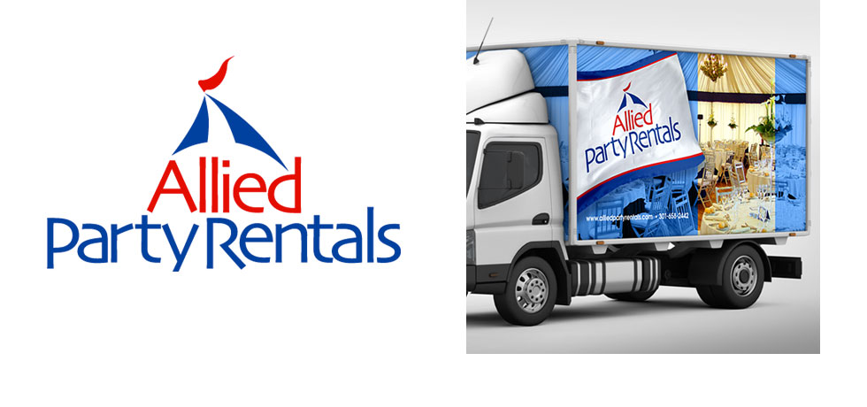 Allied Party Rentals Logo and Truck