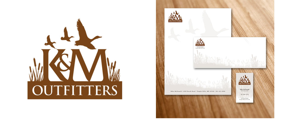 K&M Outfitters Logo and Stationery