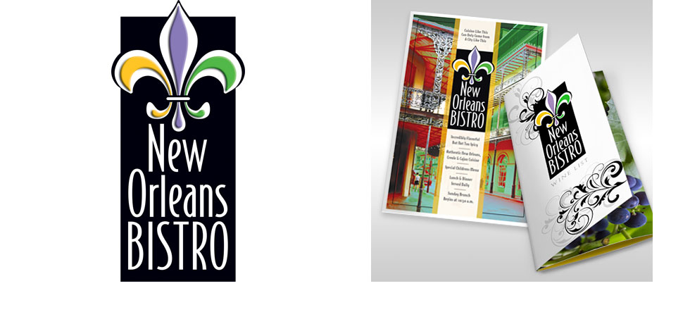 New Orleans Bistro Logo and Collateral