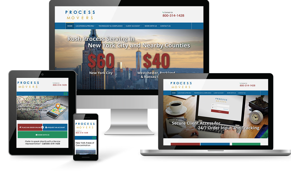 Process Movers Website Design