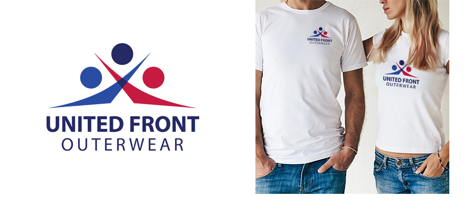 United Front Outerwear Logo Design
